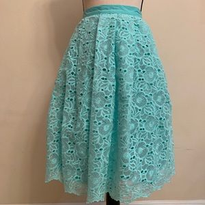 Champagne and Strawberry Mint A-Line Skirt